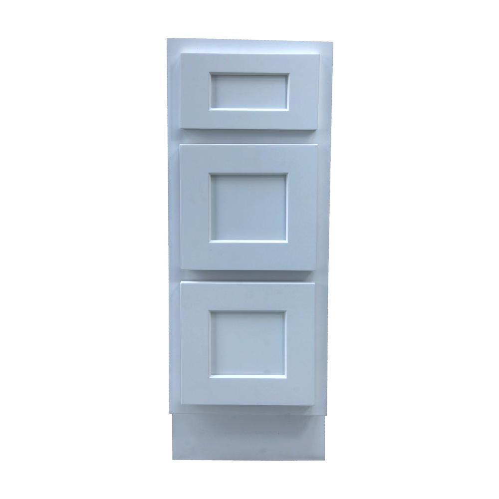 Vanity Art 15 in. W x 21 in. D x 32.5 in. H 3-Drawers Bath Vanity Cabinet Only in White