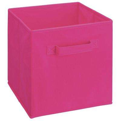 Cubeicals 11 in. H x 10.5 in. W x 10.5 in. D Fabric Storage Bin in Pink