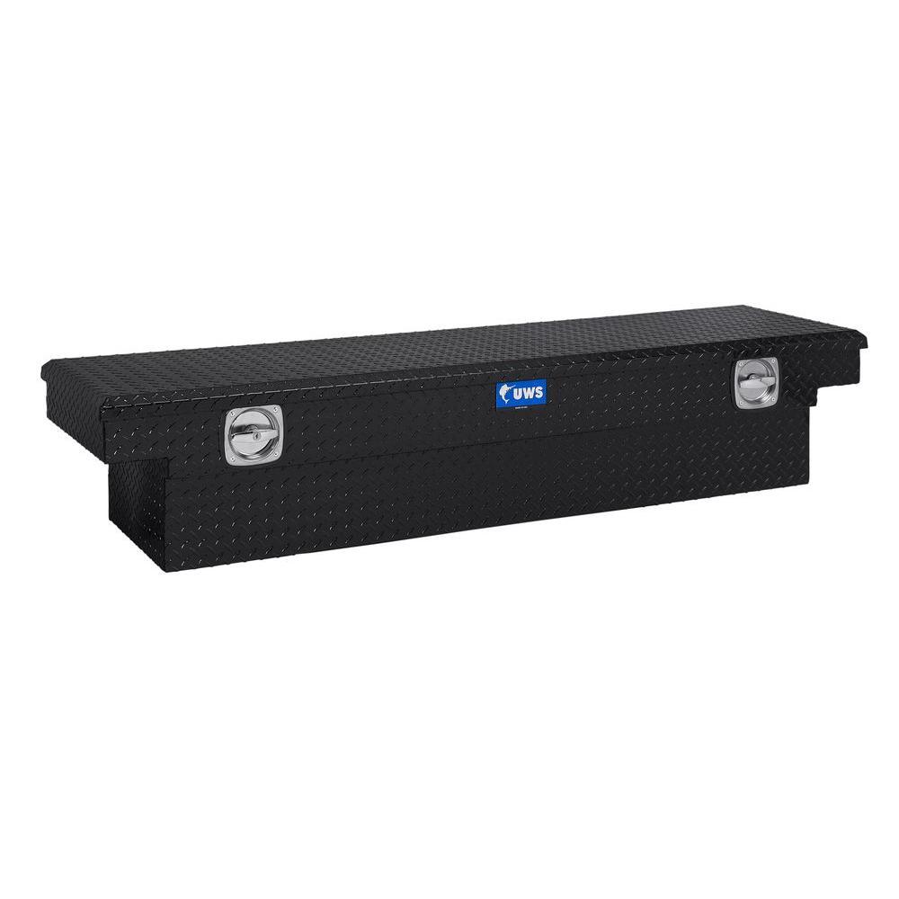 72 in. Aluminum Black Single Lid Secure Lock Low Profile Crossover Tool Box