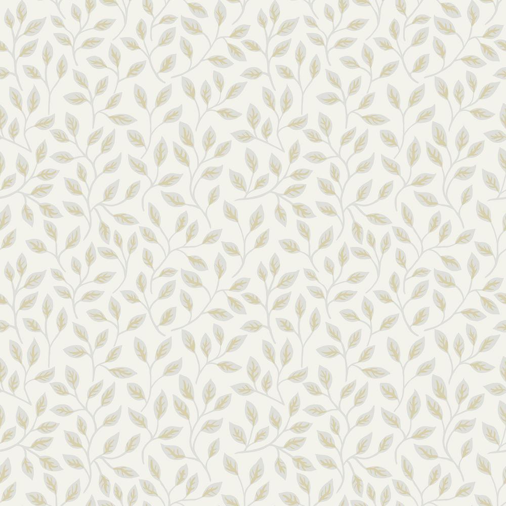 Posey White Vines Wallpaper