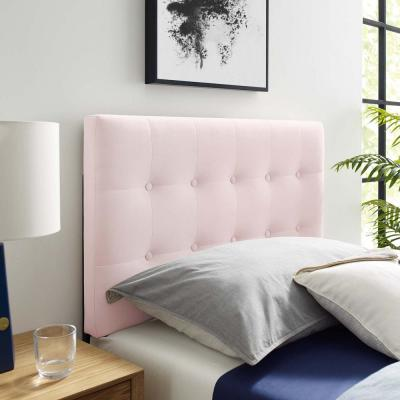 Emily Pink Twin Biscuit Tufted Performance Velvet Headboard