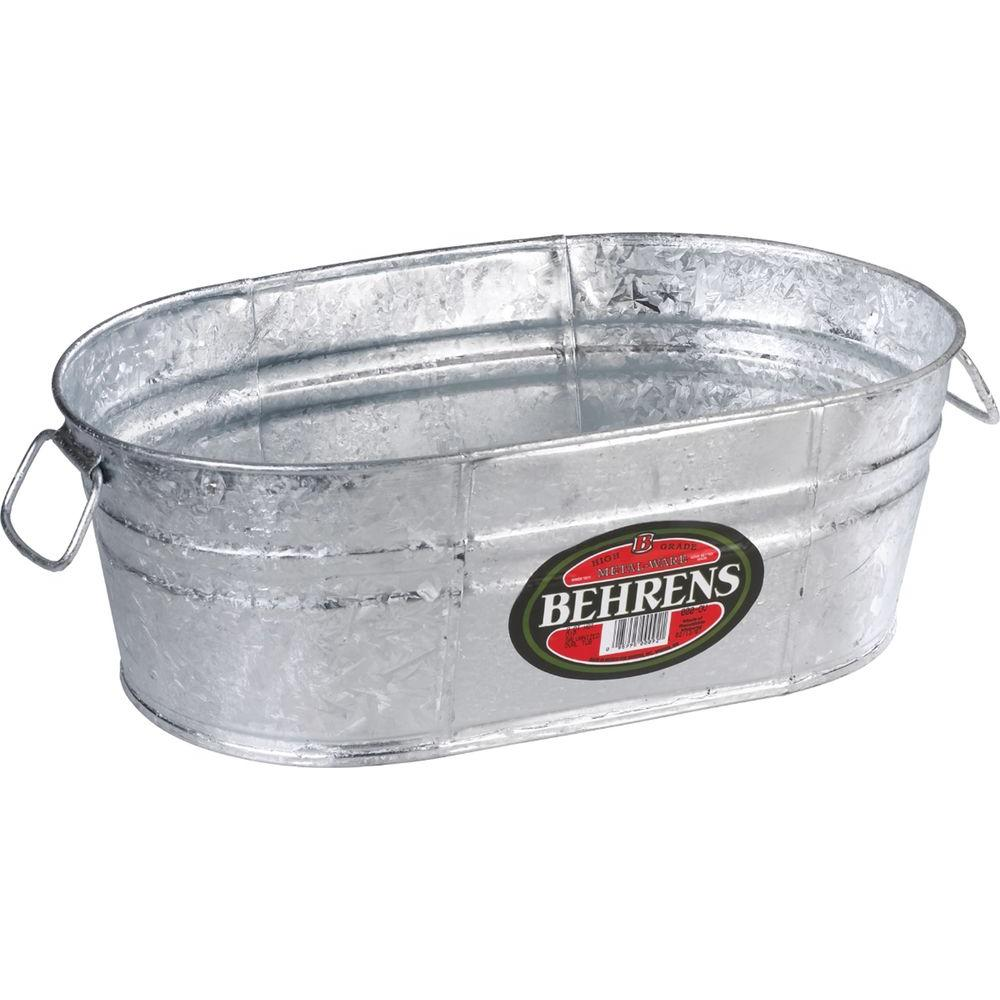 2 Gal. Hot Dipped Steel Oval Tub