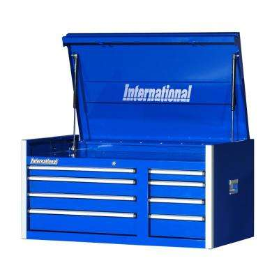 Pro Series 42 in. 8-Drawer Top Chest in Blue