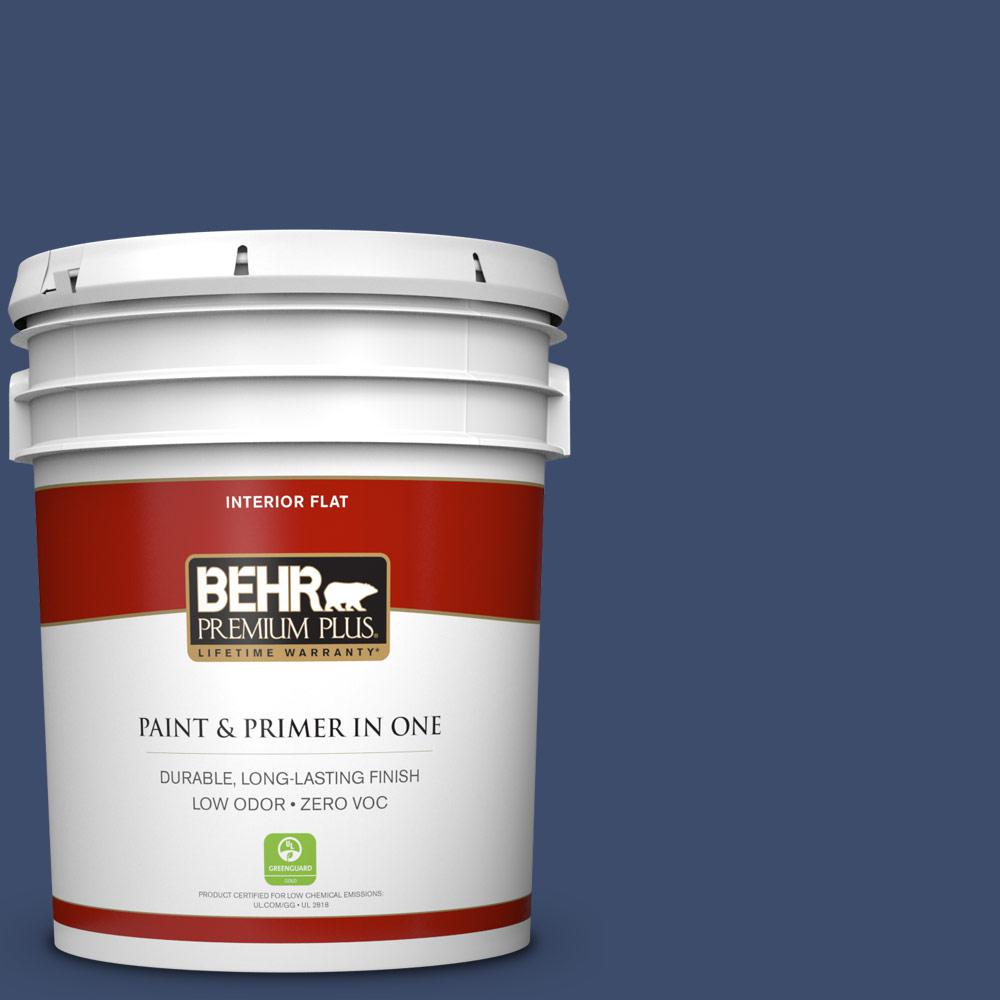 5 gal. #HDC-SM16-08 Blackberry Cobbler Zero VOC Flat Interior Paint