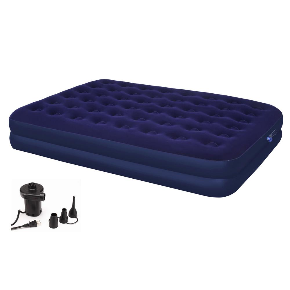 Second Avenue Double Queen Air Mattress with Electric Air Pump