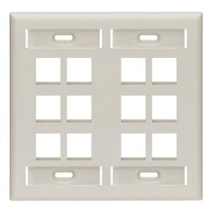 Leviton 2 Gang Quickport Standard Size 12 Port Wallplate