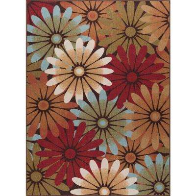 Majesty Multi 7 ft. 6 in. x 9 ft. 10 in. Transitional Area Rug