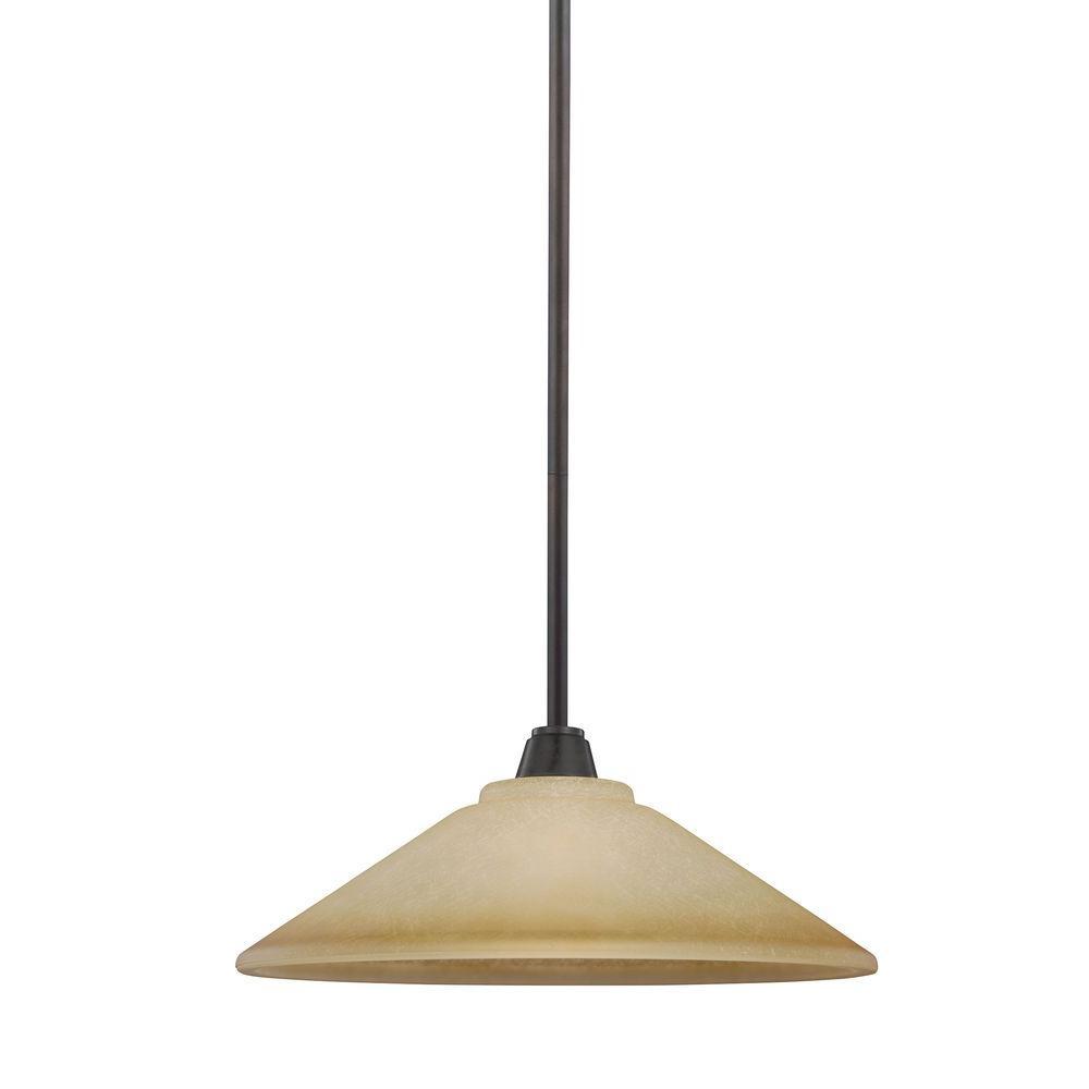 Sea Gull Lighting Parkfield 1-Light Flemish Bronze Indoor Pendant