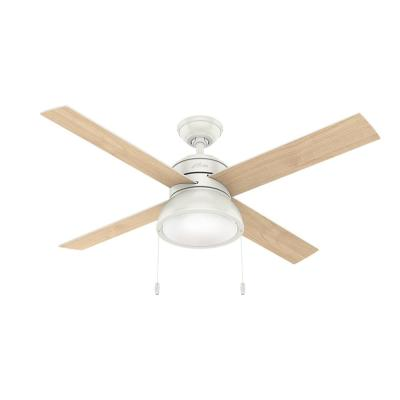 Loki 52 in. Integrated LED Indoor Fresh White Ceiling Fan with Light Kit