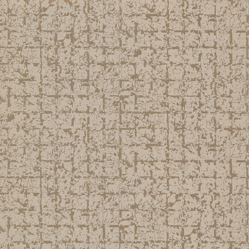 Stargazer Bronze Glitter Squares Wallpaper Sample