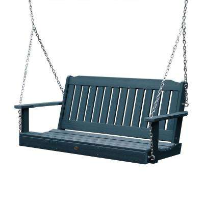 Lehigh 60 in. 2-Person Nantucket Blue Recycled Plastic Porch Swing