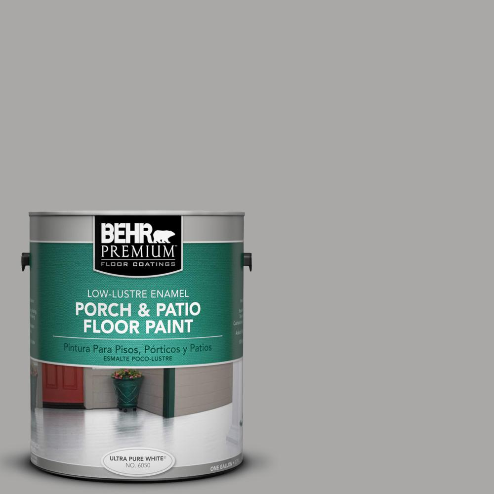 Superieur BEHR Premium 1 Gal. #PFC 68 Silver Gray Low Lustre Interior/Exterior Porch  And Patio Floor Paint 630001   The Home Depot