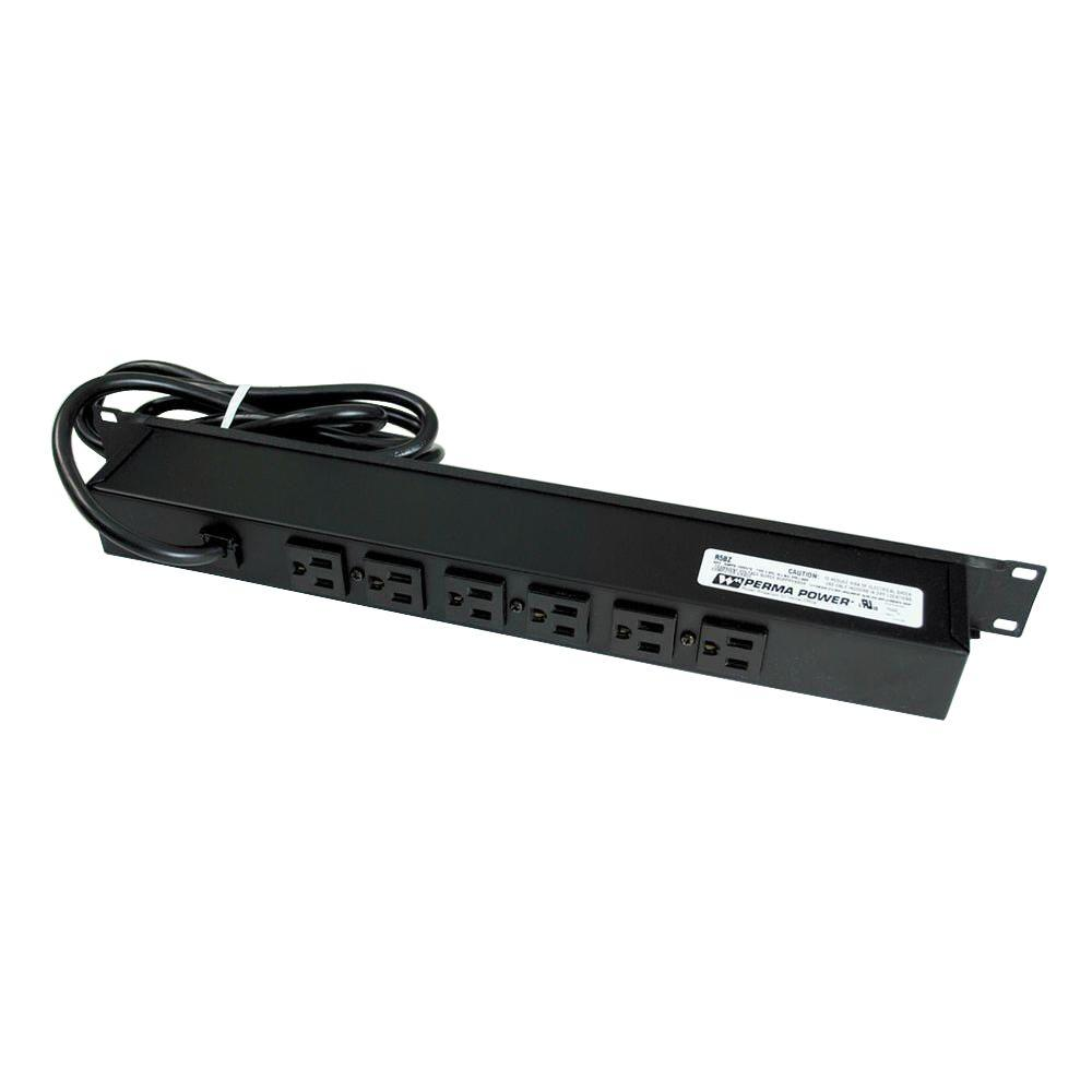 6-Outlet Rackmount Computer Grade Surge Strip with Lighted On/Off Switch, 6