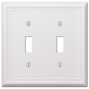 Leviton White 2 Gang Toggle Wall Plate 1 Pack R52 00pj2 00w The Home Depot