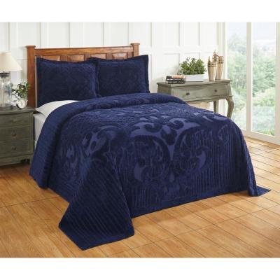 Ashton 120 in. x 110 in. Navy King Bedspread