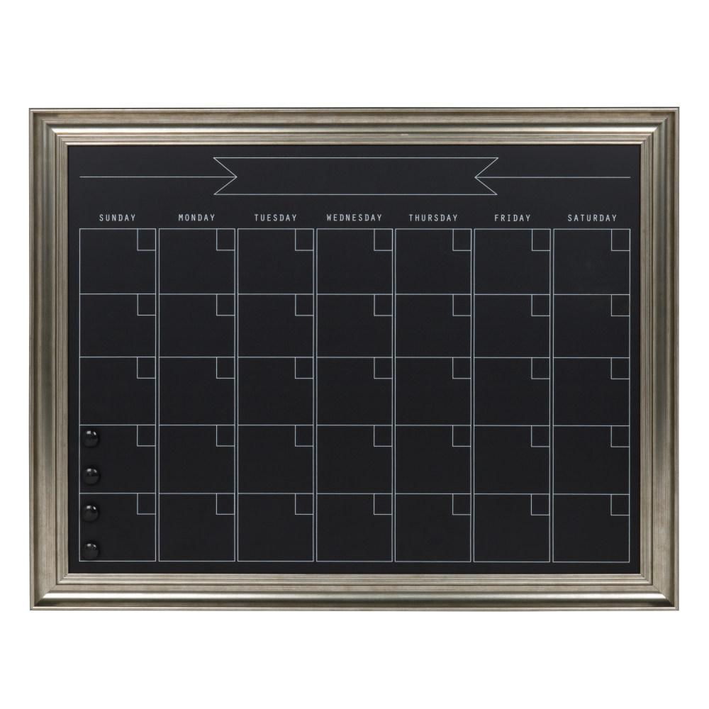 Designovation Macon Monthly Chalkboard Calendar Memo Board 211682