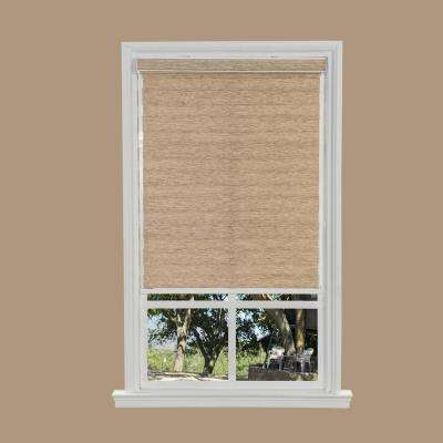Light Brown Cordless Easy Lift Spring Action Shadow Roller Shade - 27 in. W x 66 in. L