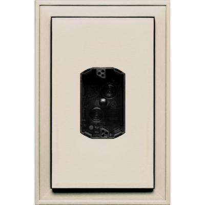 8.125 in. x 12 in. #048 Almond Jumbo Electrical Mounting Block Centered