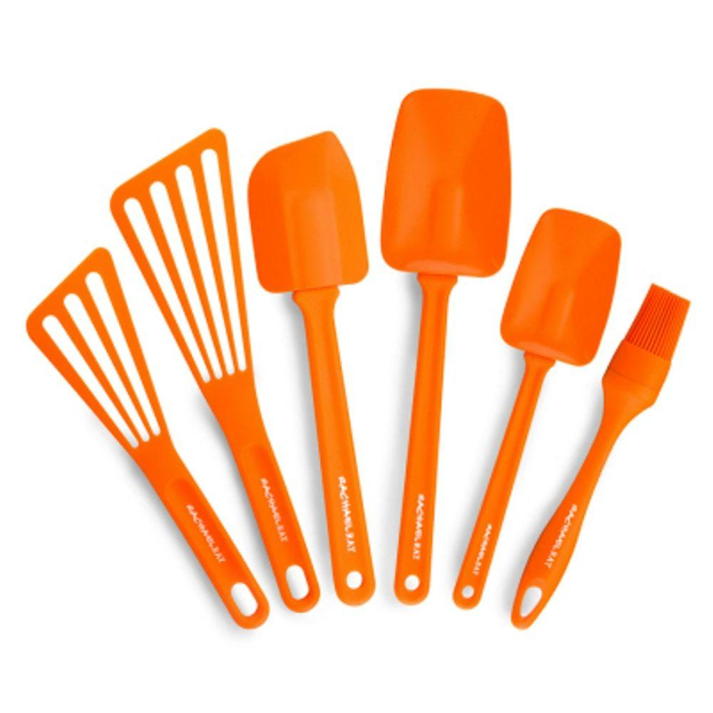 Superbe Rachael Ray Nylon Orange Kitchen Utensil Set (Set Of 6)