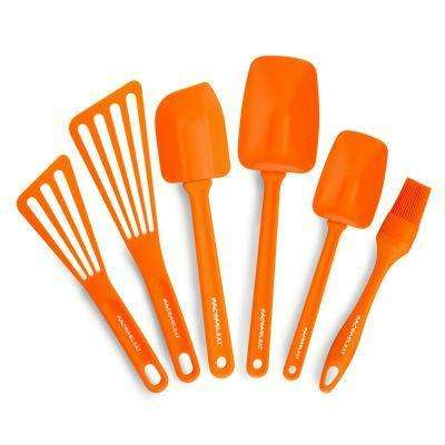 Nylon Orange Kitchen Utensil Set (Set of 6)