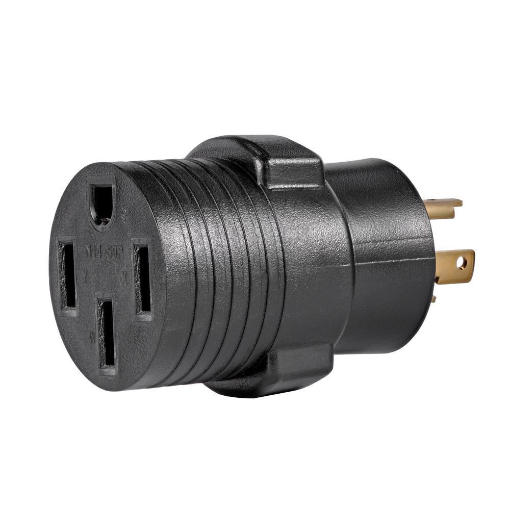 Generator Plug Adapter: 30 Amp 120 -Volt L5-30P to 14-50R