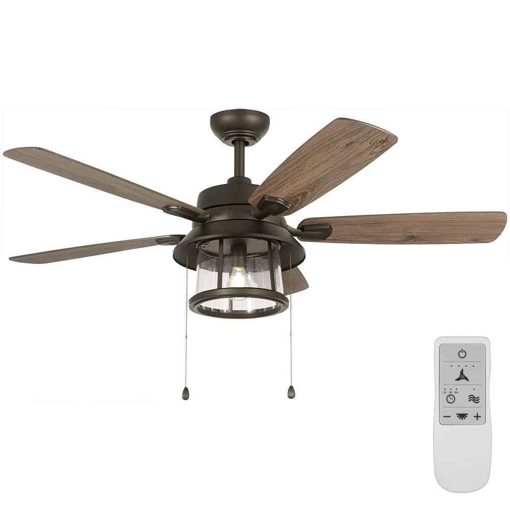 Home Decorators Collection Shanahan 52 in. Bronze LED Ceiling Fan with Light Kit Works, Google Assistant and Alexa
