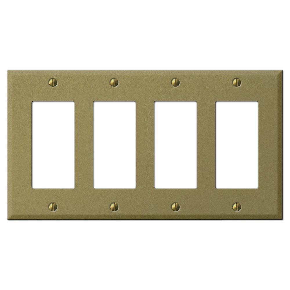 Creative Accents Steel 4 Decorator Wall Plate - Antique Brass-DISCONTINUED