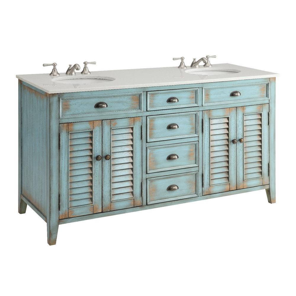 Palm Beach 60 In W X 21 75 In D Vanity In Distressed