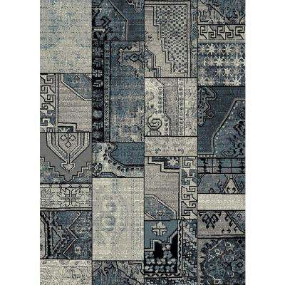 Aiza Collection Grey 5 ft. 3 in. x 7 ft. 3 in. Area Rug