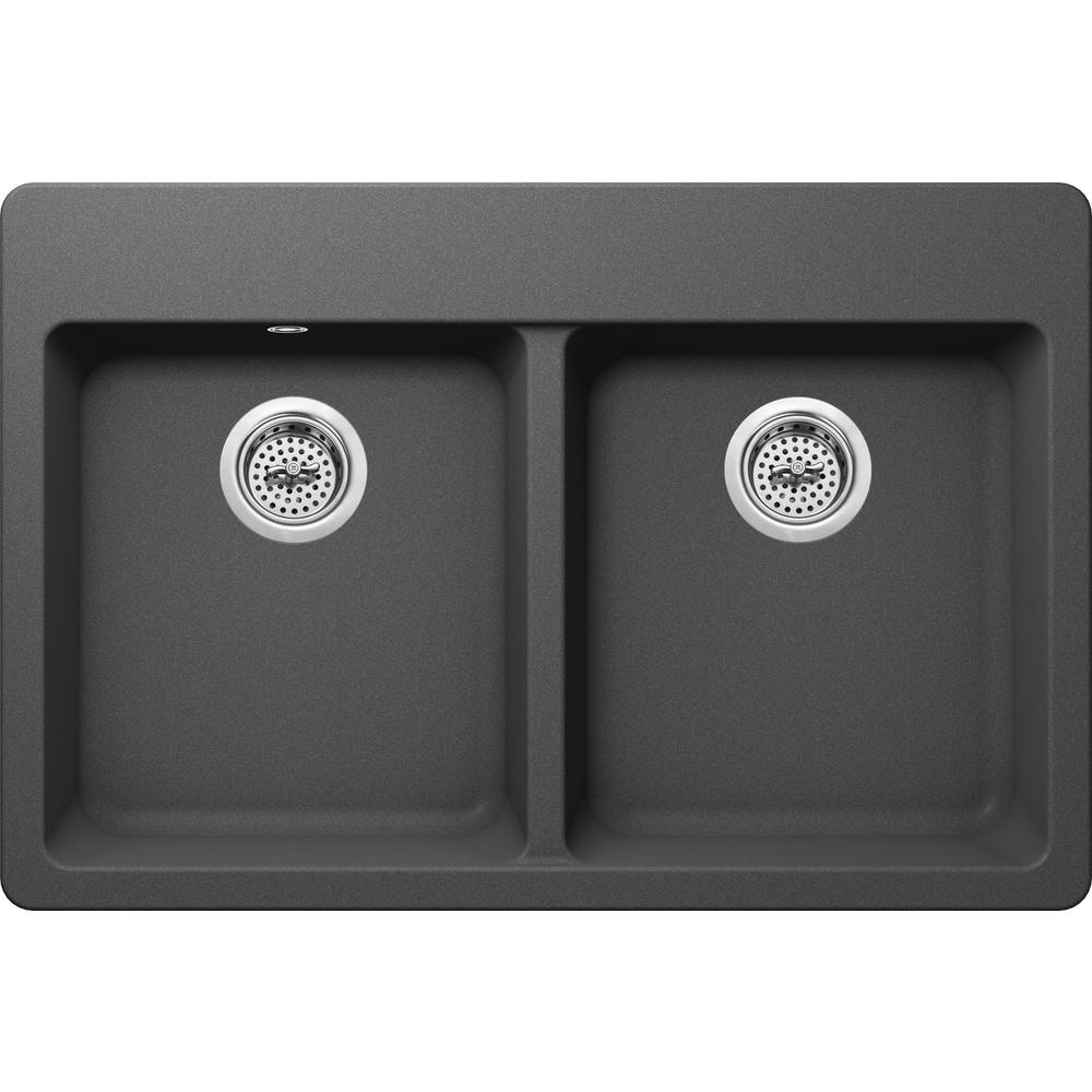 Ipt sink company drop in granite composite 33 in 4 hole for The kitchen sink company