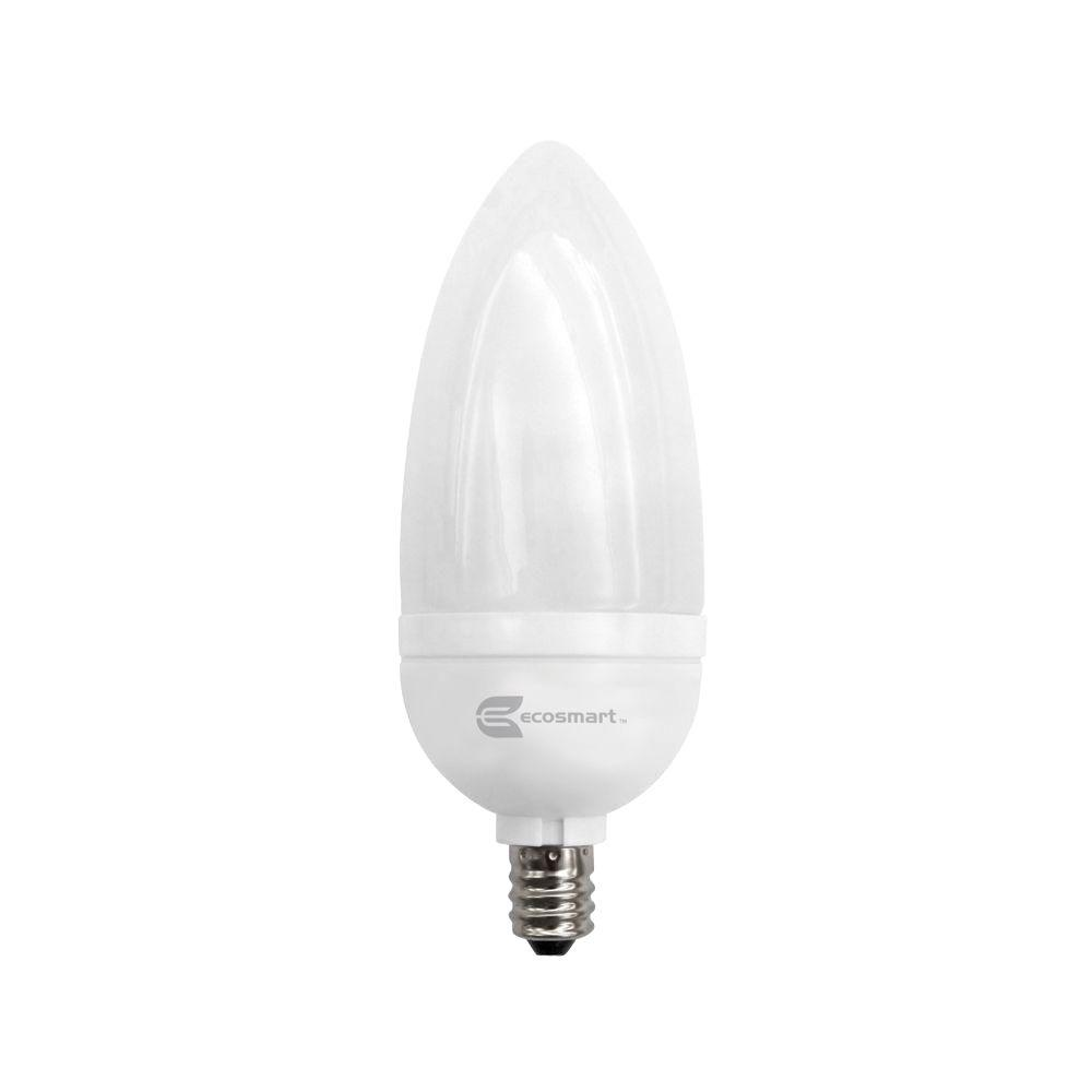 Candelabra cfl bulbs light bulbs the home depot 40 watt equivalent b10 candelabra cfl light bulb soft white 3 pack arubaitofo Image collections