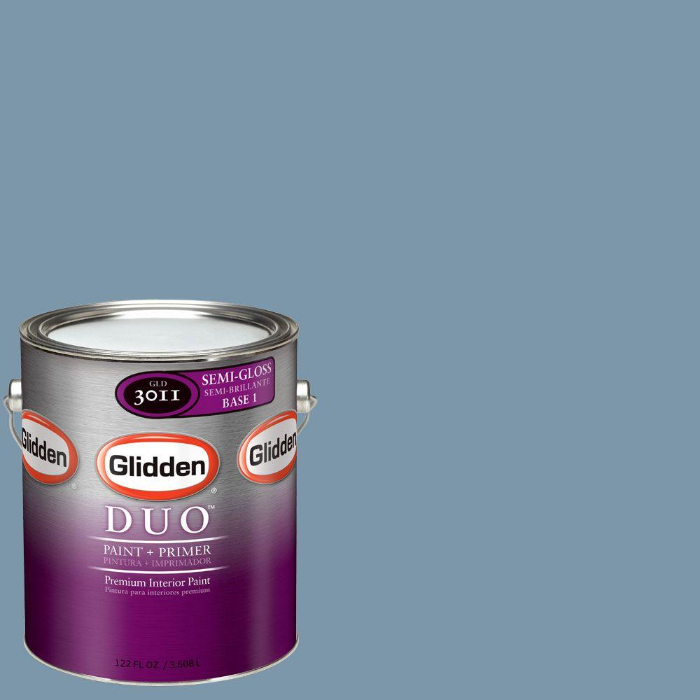 Glidden DUO Martha Stewart Living 1-gal. #MSL160-01S Thistle Blue Semi-Gloss Interior Paint with Primer-DISCONTINUED