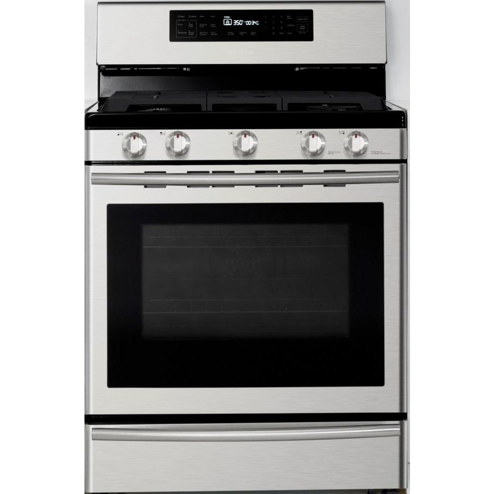 30 in. 5.8 cu. ft. Gas Range with Self-Cleaning and True