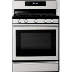 Samsung 30 inch 5.8 cu. ft. Gas Range with Self-Cleaning and True Convection Oven in Stainless Steel by Samsung