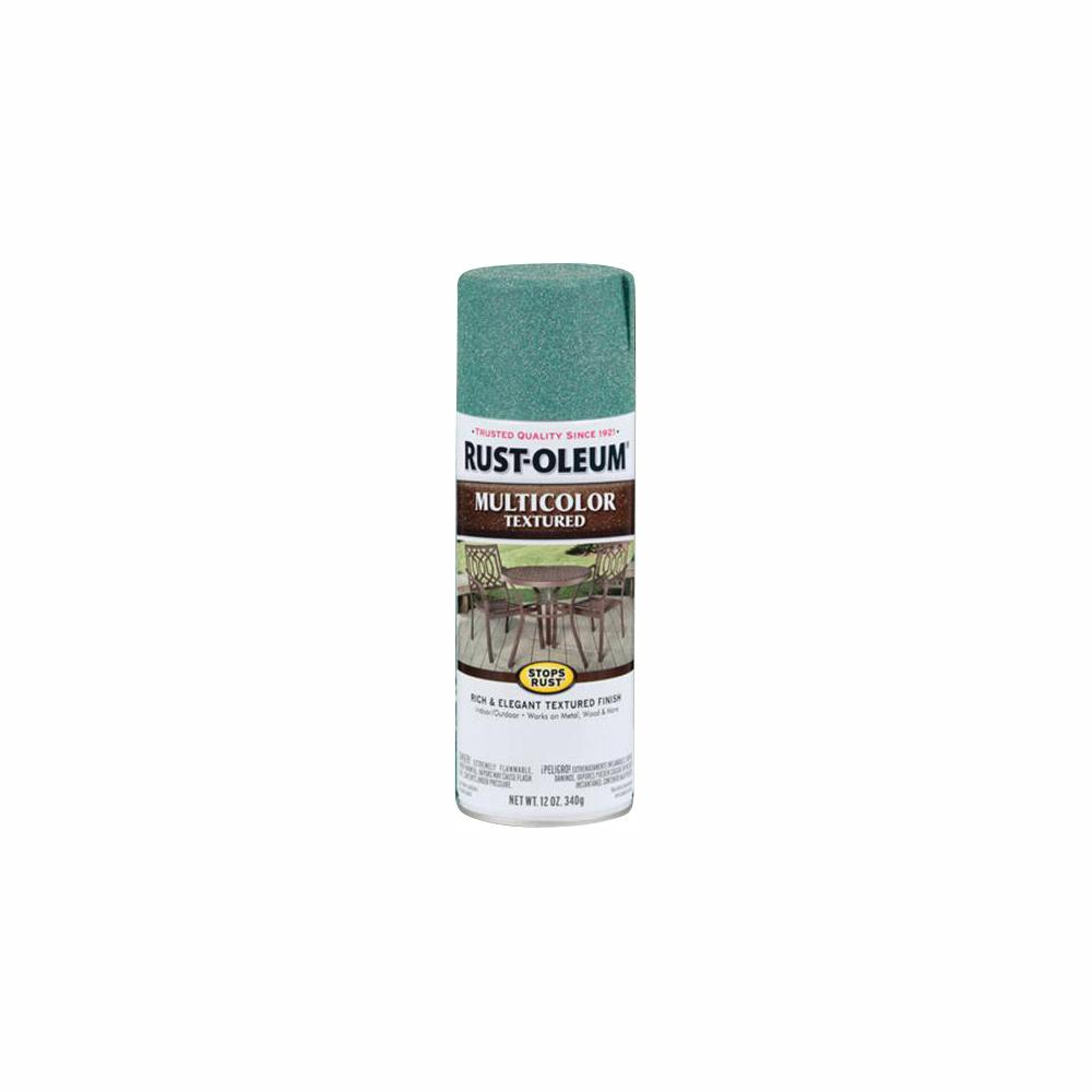Rust-Oleum Stops Rust 12 oz  MultiColor Textured Sea Green Protective Spray  Paint (6-Pack)