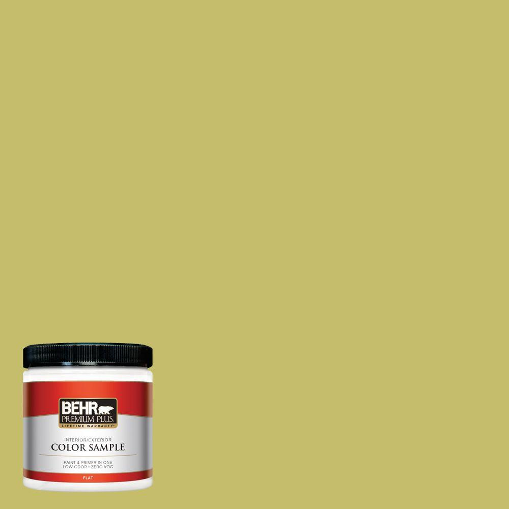 8 oz. #P350-5 Go Go Lime Interior/Exterior Paint Sample