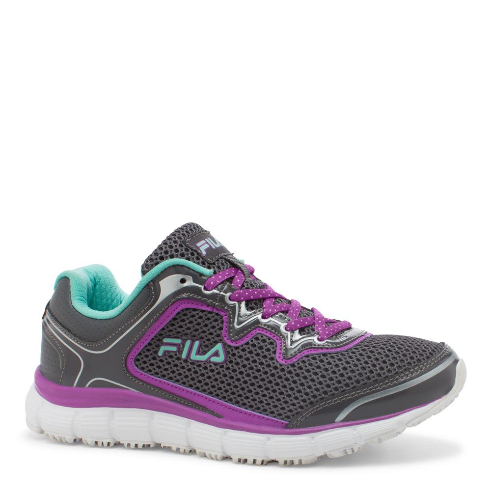 Fila Memory Fresh Start Women Size 7 Castlerock/Purple Ca...
