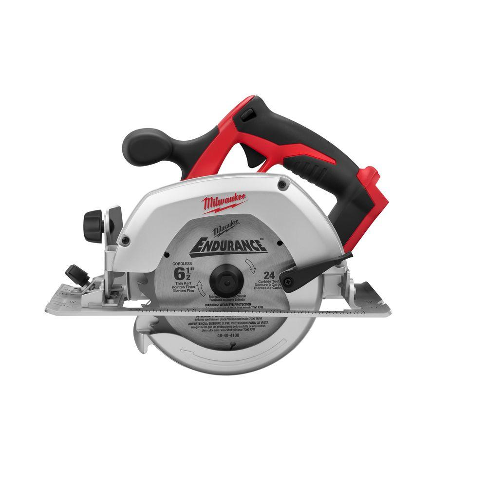 Milwaukee m18 18 volt lithium ion cordless 6 12 in circular saw milwaukee m18 18 volt lithium ion cordless 6 12 in circular saw tool only 2630 20 the home depot greentooth Image collections