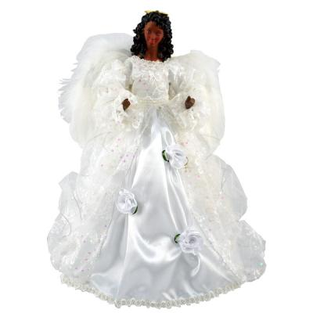 16 in. Black Wedding Dress Angel