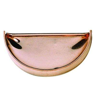 5 in. Half-Round Copper End Cap