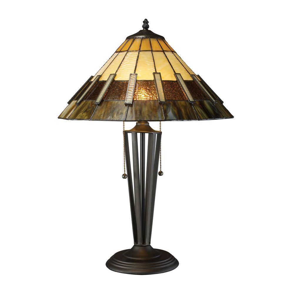 Porterdale 23 in. Tiffany Bronze Table Lamp