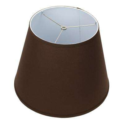 11 in. Top Diameter x 17 in. Bottom Diameter x 13 in. Slant Linen Coffee Empire Lamp Shade