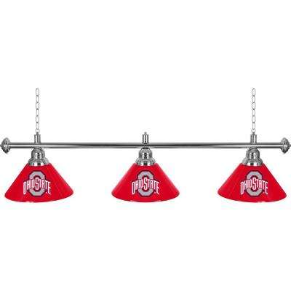 Ohio State University 3-Light Red Billiard Lamp