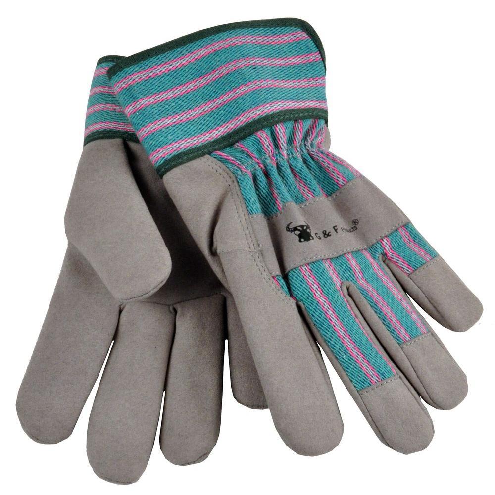 Grey Children Work Gloves