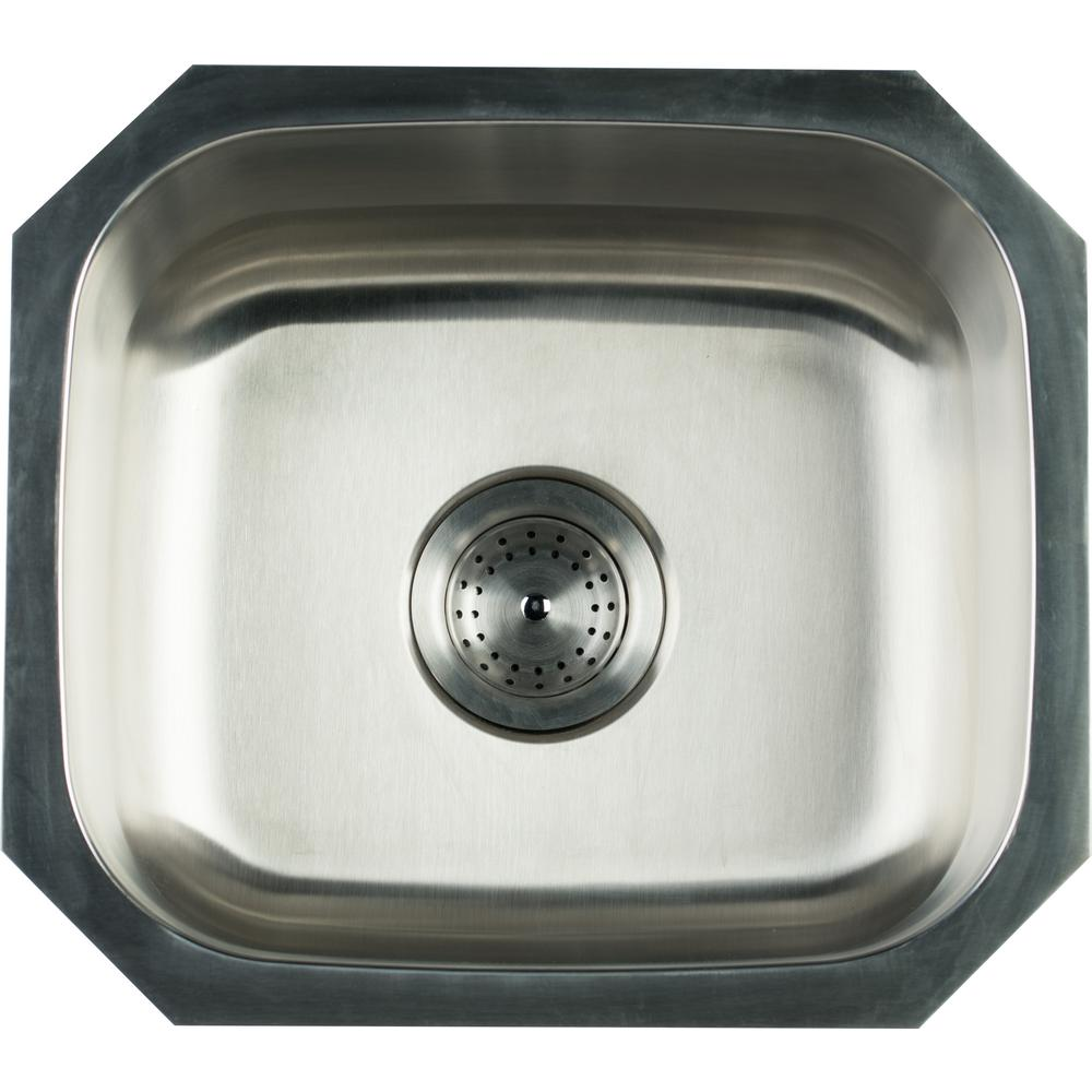 Glacier Bay Undermount Stainless Steel 16 In Single Bowl Kitchen Sink