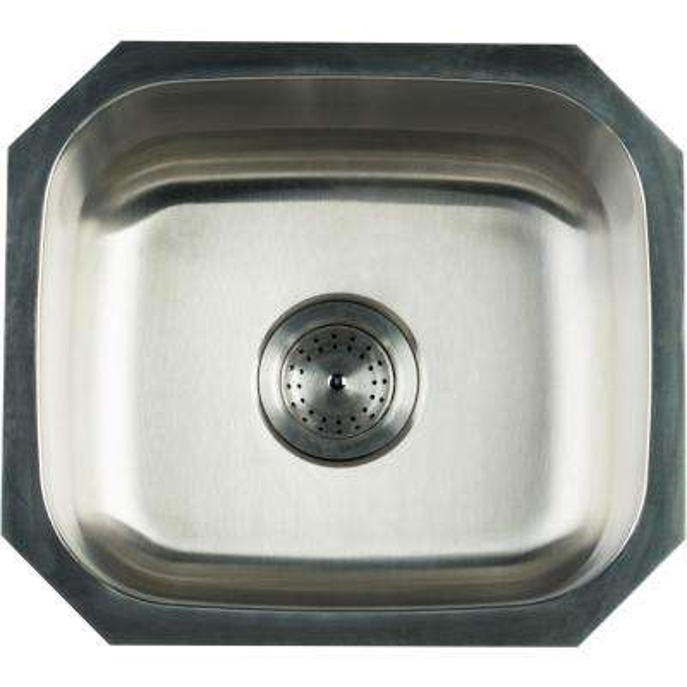 Undermount Stainless Steel 16 in. Single Bowl Kitchen Sink