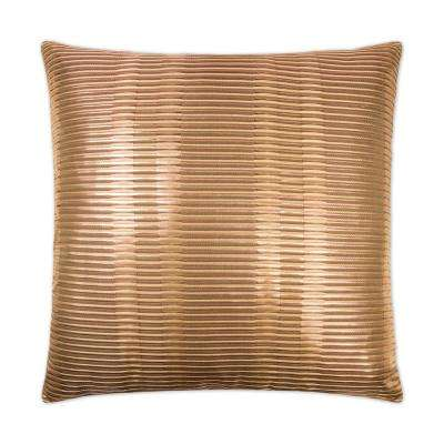 Grid Copper Feather Down 24 in. x 24 in. Standard Decorative Throw Pillow
