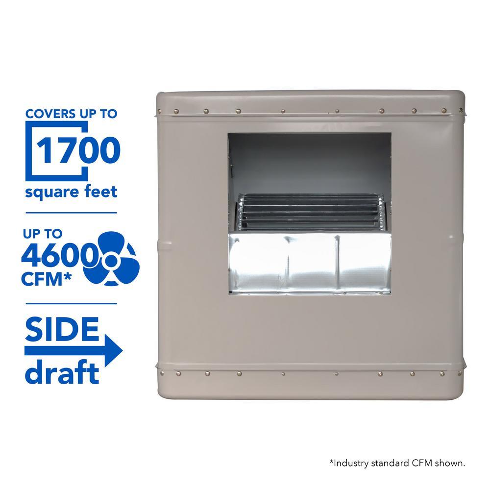 4600 CFM Side-Draft Wall/Roof Evaporative Cooler for 1700 sq. ft.