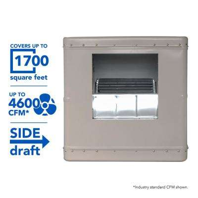 4600 CFM Side-Draft Wall/Roof Evaporative Cooler for 1700 sq. ft. (Motor Not Included)
