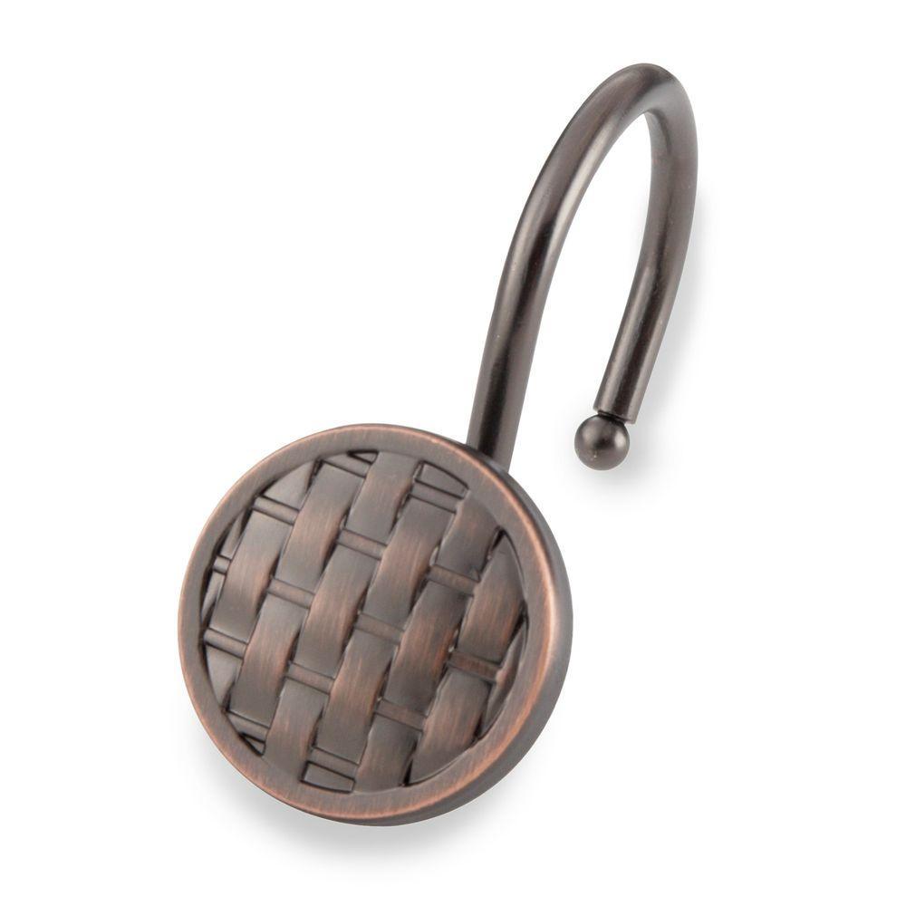 Woven Shower Hooks In Oil Rubbed Bronze